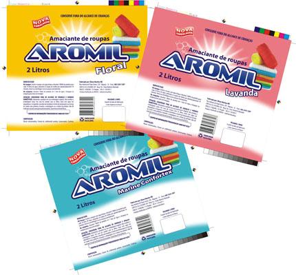 Embalagens de Amaciante Aromil