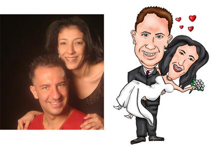 Caricatura de Casamento - Convite de Casamento