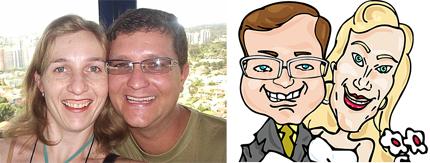 Caricatura de Casamento - Ricardo