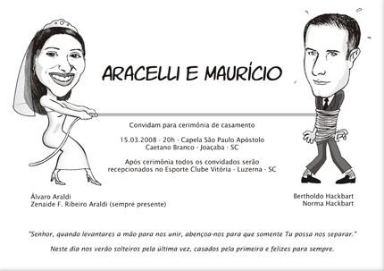 Convite de Casamento Aracelli e Maurício