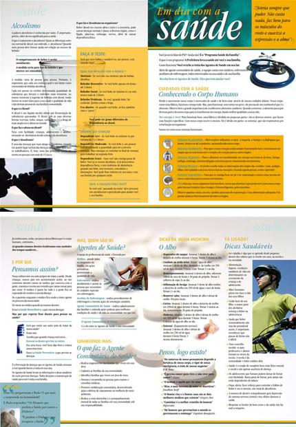 Folheto Em dia com a Saúde