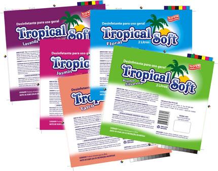 Embalagens de desinfetante Tropical Soft