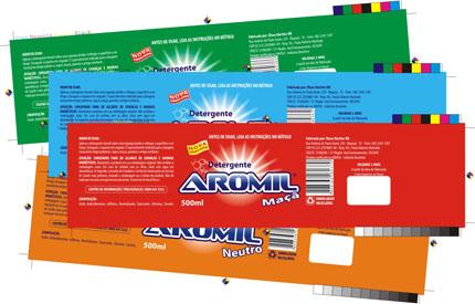 Embalagens de Detergente Aromil