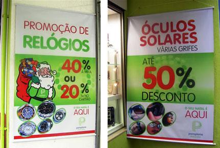 Banner de Natal - Ótica Pamplona
