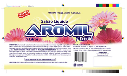 Embalagem de amaciante Aromil Floral